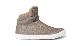 Jimmy Choo Albion Snakeskin Effect High Top Sneakers