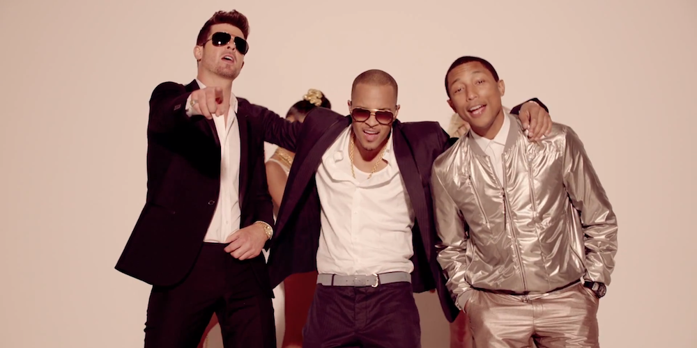 Music Video: Robin Thicke ft. T.I. & Pharrell - Blurred ...