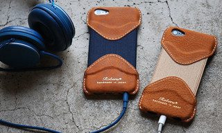 Roberu Vintage Camel Leather iPhone 5 Case