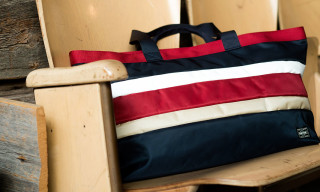 White Mountaineering x Porter Nylon PVC Border Tote Bag