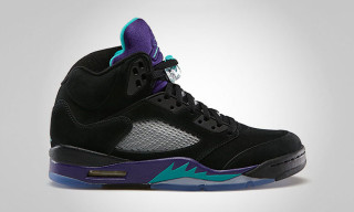 Air Jordan 5 Retro Black/New Emerald – Grape Ice – Black