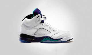 Air Jordan 5 Retro White/New Emerald – Grape Ice – Black