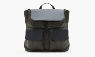 Alexander Wang Olive and Matte Black Leather Backpack