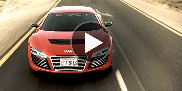 Kid Electric Car >> Watch the Audi R8 e-tron Ad for 'Iron Man 3' | Highsnobiety