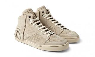 Bottega Veneta Fringed Intrecciato Suede Sneakers