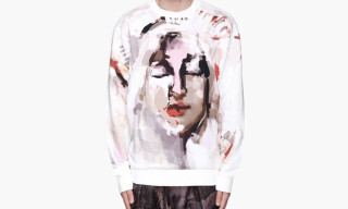 Givenchy White Abstract Madonna Print Sweatshirt