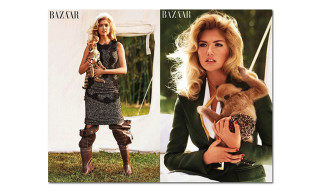 "Kate Upton in ""The Animal Nursery"" for Harper's Bazaar"