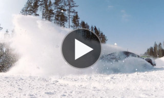 Watch Ken Block Tear Through a Snowy Russian Winter and Race Skiers
