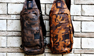 Buttero x master-piece Camo Leather Backpacks