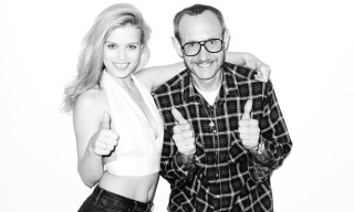 Georgia May Jagger Visits Terry Richardson's Studio