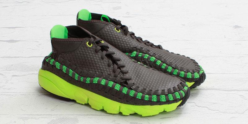 timeless design 86f09 173b0 Nike Footscape Woven Chukka Mid Gog Poison Green Highsnobiety chic