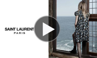 Saint Laurent Fall/Winter 2013 Campaign Part 1 Cara Delevingne & Cole Smith