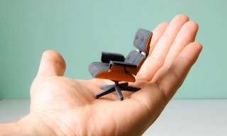 3D-Printed Mini Eames Lounge Chair and Ottoman