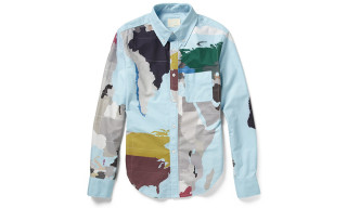 "Band of Outsiders ""Map Print"" Shirt"