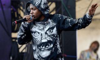 """Street Style: Kendrick Lamar in Christopher Kane """"Creature"""" Hoodie & Sweatpants"""