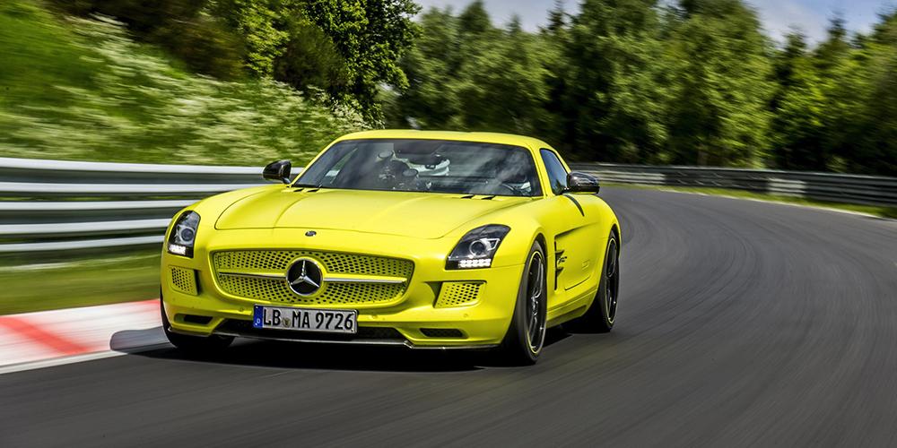 Nurburgring Lap Record >> Mercedes-Benz SLS AMG Electric Drive Breaks Nürburgring EV ...