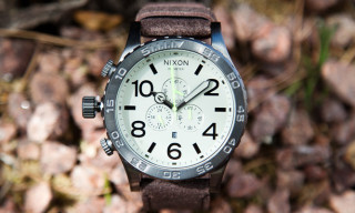 Nixon 51-30 Chrono Leather in Gunmetal Brown