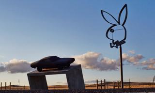 Playboy Installs Giant Neon Bunny Sign in Marfa, Texas