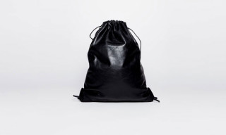 Alexander Wang Black Leather Gym Bag