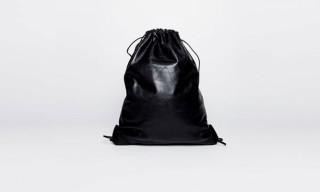 Alexander Wang Black Leather Gym Bag