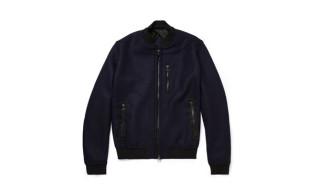 Lanvin Wool-Blend Felt Bomber Jacket