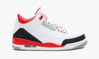 Air Jordan 3 Retro (White/Fire Red/Cement Grey)