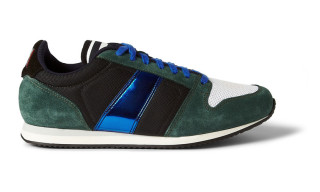 AMI Suede Mesh Leather Sneakers
