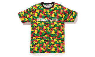 "Snoop Lion x BAPE ""Rasta Camo"" T-Shirt"