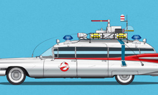 Cars and Films – A Series of Movie Posters of Iconic Cars and Films
