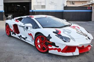 Chris Brown Paints Lamborghini Aventador to Match His Nike Air Foamposites