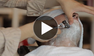 Watch Gillette Give Free Hot Towel Shaves at Story NYC