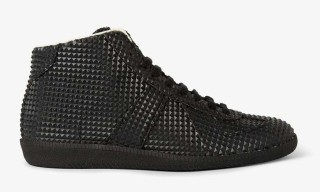 Maison Martin Margiela Black Studded High-Top Sneaker