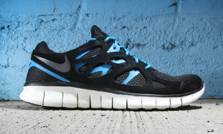 Nike Free Run+ 2 Black/Dark Grey-Black-Blue Hero