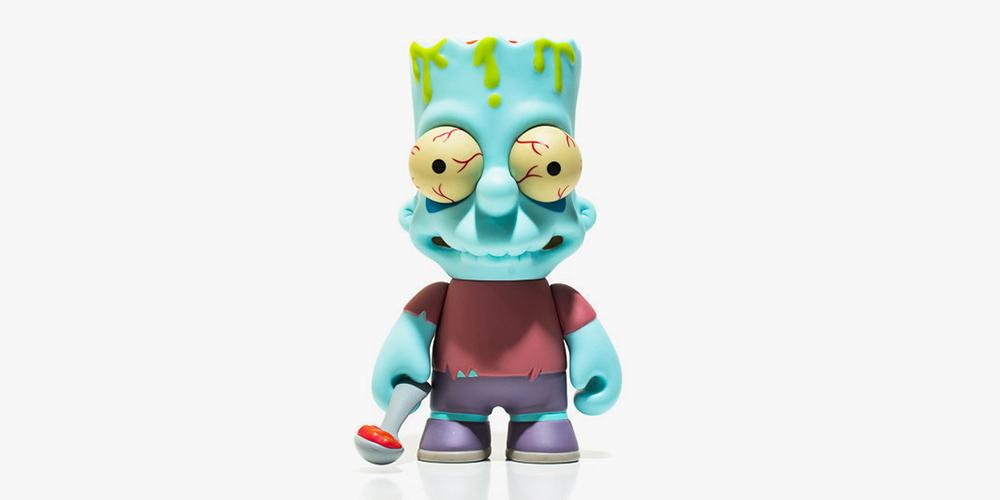 The Simpsons Kid Robot Zombie Bart Toy Highsnobiety