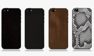 Premium Leather Backs for iPhone 5 by Valentine Goods