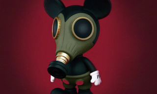 "Made by Monsters x Ron English ""Militia Mousemask Murphy"" Japan BlackBook Edition"