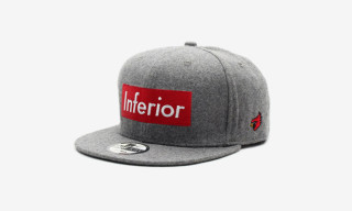 "Mark McNairy for Heather Grey Wall ""Inferior"" Snap Back Cap"