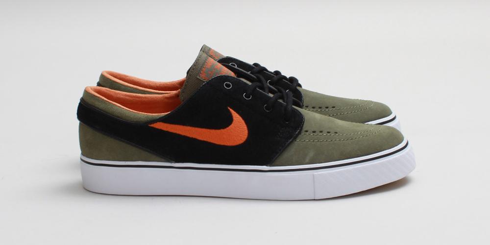 6450e635be7b Nike SB Zoom Stefan Janoski Medium Olive Urban Orange Black Highsnobiety  good