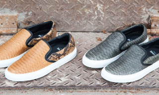 Diemme Garda Snakeskin Slip-On Sneakers