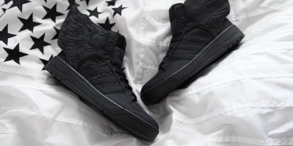 new styles c8ba0 6cdca A Closer Look at the adidas Originals x Jeremy Scott x AAP Rocky JS Wings  2.0 BLACK FLAG  Highsnobiety