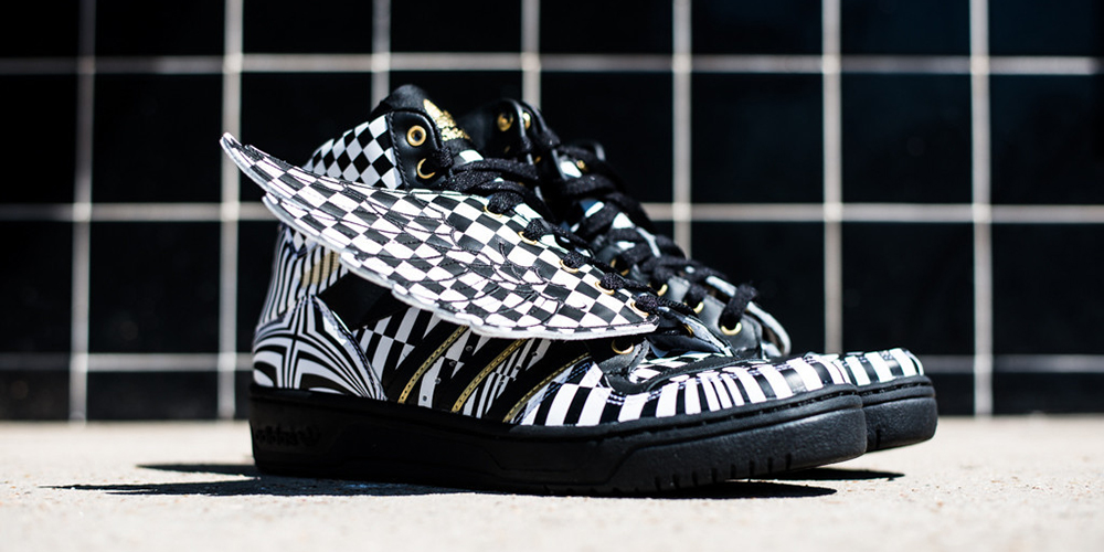 adidas js wings black and white