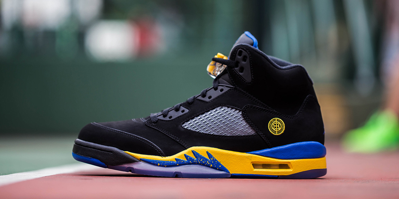 Air Jordan 5 Blue And Black