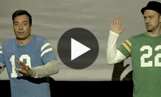 Watch Justin Timberlake and Jimmy Fallon in 'The Evolution of End Zone Dancing'