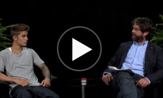 Zach Galifianakis Spanks Justin Bieber on 'Between Two Ferns'