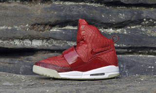 Genuine Python Red October Nike Air Yeezy 1 by JBF Customs