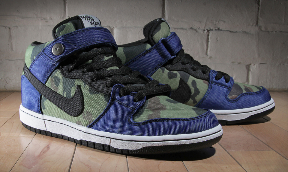 outlet store 0bece 288e6 ... authentic made for skate x nike sb dunk mid royal camo highsnobiety  acc25 47500