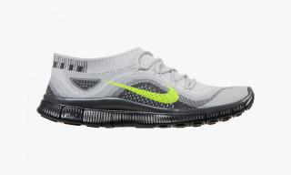 Nike Free Flyknit Platinum/Volt