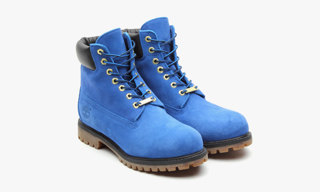 Atmos X Timberland 6 Inch Premium Blue Suede Boots