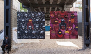 "Banksy Teams Up with Os Gemeos on Day 18 of ""Better Out Than In"""