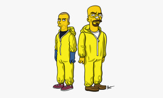 'Breaking Bad' Characters Drawn as 'The Simpsons'